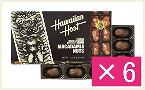 ハワイアンホースト マカデミアナッツチョコレートTIKI 8oz(16粒)×6