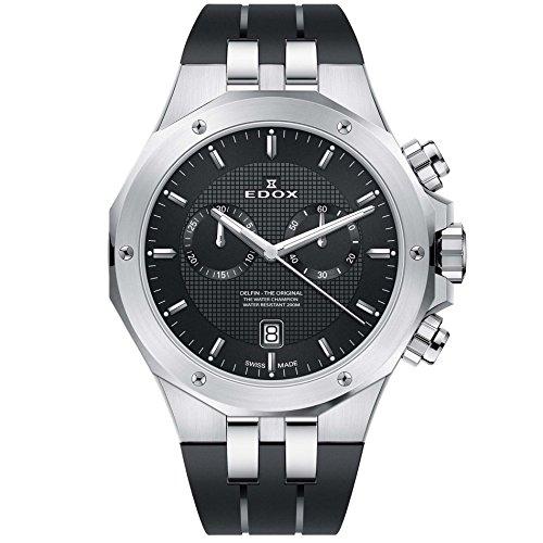 Edox Delfin The Original Reloj de Hombre Cuarzo Suizo 43mm 10110 3CA NIN