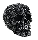 Zeckos Scrap Head Steampunk Junk Pile Nuts & Bolts Covered Skull Statue 6 inch