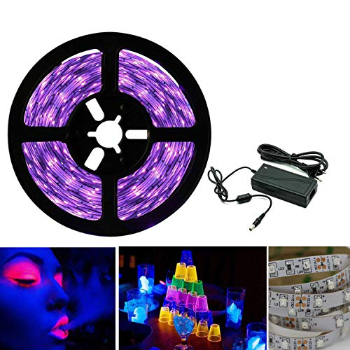 Arotelicht 5M Set Striscia di luci LED UV 300LEDs SMD2835 IP20 interior con fuente di alimentatore 12V Striscia Viola lilla Black Light decorazione per Feste Bar DJ Club KTV Discoteca