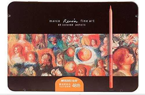 Betrothales Lápices De Colores 48 Colores Chic Marco Renoir Bellas Artes 3100 Caja De Hojalata Aceitoso Dibujo Artístico Profesional Lápices De Colores Diarios Suministros De Oficina Y Escuela Product