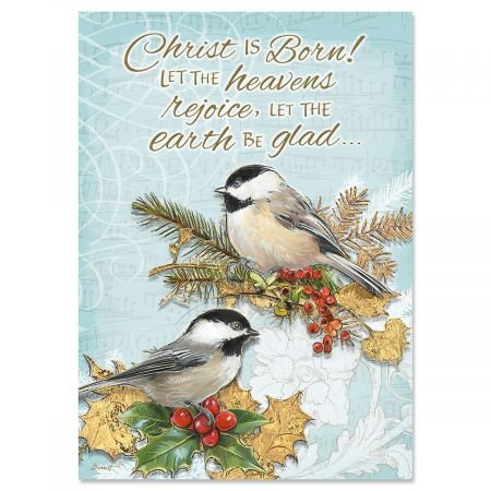 Holiday Birds Religious Christmas Cards � Holiday Greetings, Includes Bible Verse, Set of 18 Cards and Envelopes, by Current
