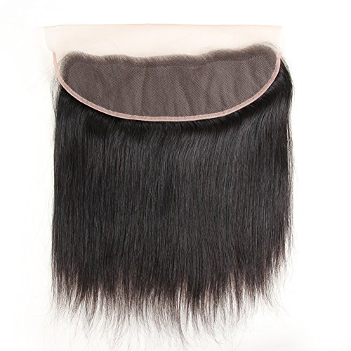 """ZSF Hair Brazilian Vigin Hair Straight Lace Frontal Closure Ear to Ear 13x4 Free Part Bleached Knots Natural Hairline 20""""inch"""