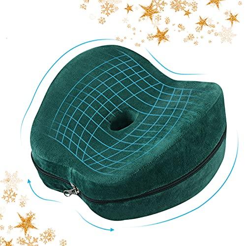 Essort Cojín para Rodilla, Almohada Rodillas, Cojín para Las Piernas de Espuma, Almohadas para Piernas, 23 × 13,5 × 22 cm Verde