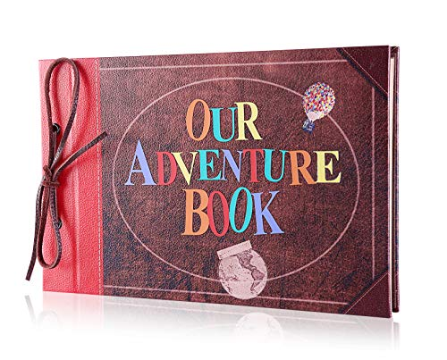 Pulaisen Scrapbook Album Upgraded Our Adventure Book Handmade DIY Family Scrapbook with 3D Letter Cover,Great for Thanksgiving, Christmas, Anniversary, Family Memory,Wedding,Birthday,Valentines Day