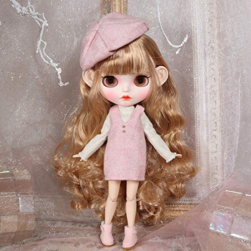 POXL Blythe Doll Puppe 1/6, 30cm Blythe Doll Voller Satz Blythe Puppe Make-up und Kleidung