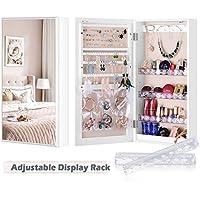 Luxfurni Lightweight Small Mirror Jewellery Storage Organizer