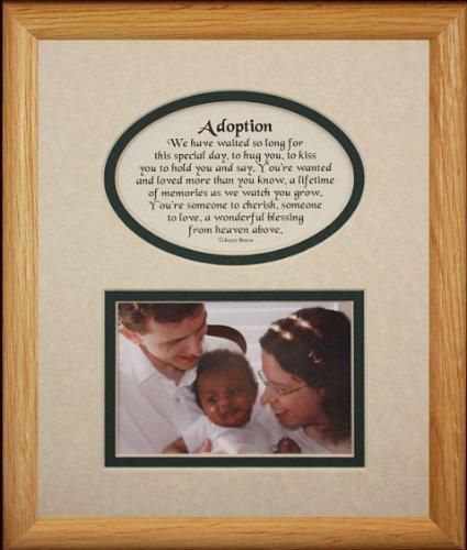 8X10 채택 사진 및시 사진 선물 프레임 크림   헌터 그린 매 한 채 기념품 선물해양부모