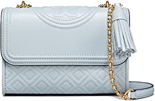 Fleming Convertible Small Leather Shoulder Bag (Seltzer)
