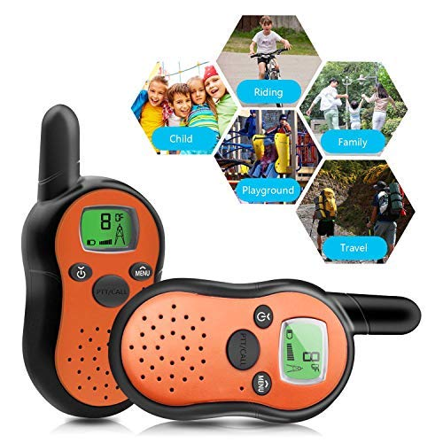 KOMVOX Walkie Talkies for Kids Toddlers Two Way Radios Toy Voice Activated Long Range Pack, Outdoor Exploration Gifts for Age 5 6 7 Year Old Boys Girls
