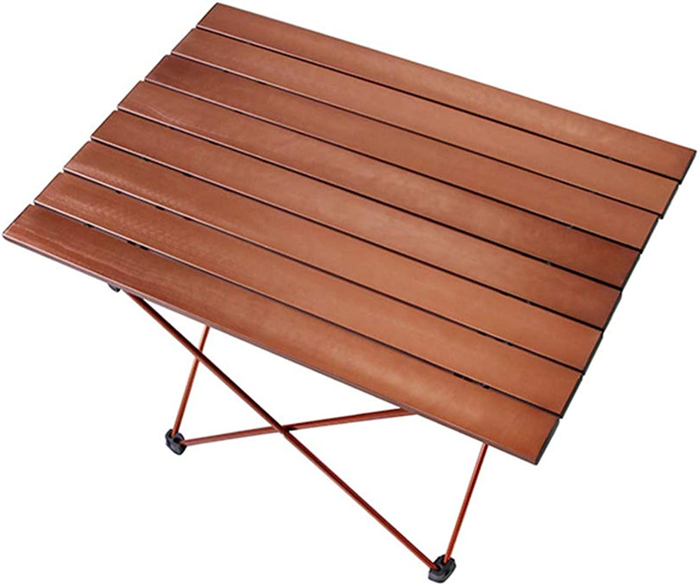 Portable Camping Table, Aluminum Table Topanti-Corrosion Rust Prevention Non-Slip Folding Table Picnic Camp Beach Easy Clean,2