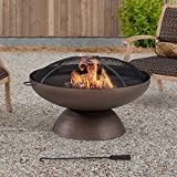 AmberCove Denison Extra Large 40 in. Wood-Burning Firepit