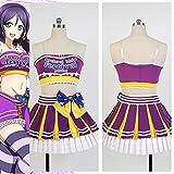 Hfeng Love Live LoveLive! Nozomi Tojo Cheerleaders Cosplay Costumes for Women Girls Halloween Carnival Costume (Size : XXXL)