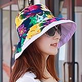 XINQING-MZ Delgado, la tapa se puede plegar la tapa doble cara visor femenino playa hat, escapadas románticas paño verde cap cap cap de sun, color/A