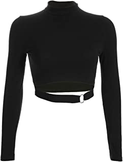 Women T-Shirt Blouse Causal Gothic Punkt Turtleneck Full Sleeve Loose Tops