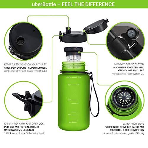 """720°DGREE Trinkflasche """"uberBottle"""" – 350 ml, 0,35 l, Grün, Gruen   Neuartige Tritan Wasser-Flasche   Water Bottle BPA Frei   Ideale Sportflasche für Kinder, Fitness, Fahrrad, Sport, Fussball - 2"""