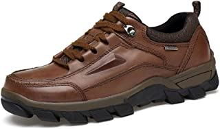 Men's Leather Hiking Shoes, Outdoor Oxford Trekking Shoes, Breathable Lace-up Driving Shoes, Suitable for Business Work
