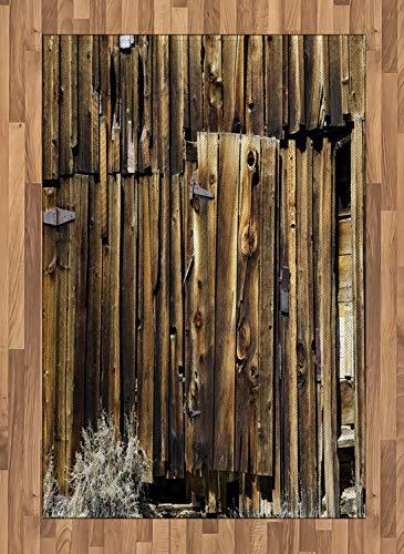 Abakuhaus - Alfombra (imitación de Madera de Roble, impresión Digital, 120 x 180 cm), Color marrón