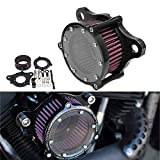WINALL Motorcycle Air Filter Cleaner Intake Filter System for Harley Sportster XL 883 1200 2004-2016
