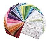 60 fogli di carta di gelso,21,6x 30,5 cm, fatti a mano, realizzati in tessuto origami giapponese Washi, prodotti in vendita all'ingrosso, in grandi quantità. Prodotti in Thailandia