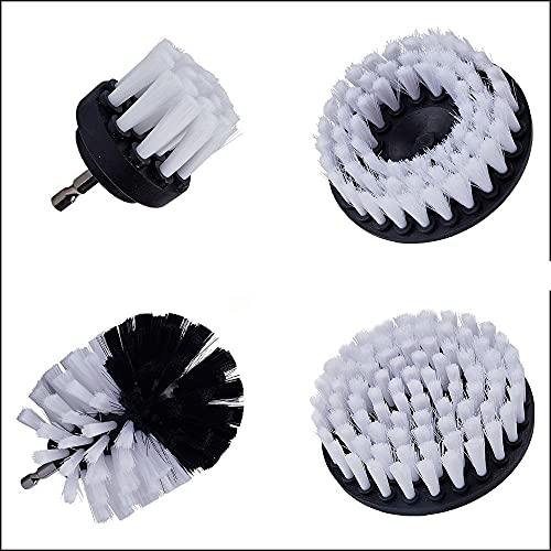 3/4/5 PCS Drill Power Scrub Cepillo Cepillo Coche Interiores Cleaning Power Scrub-4 Piezas