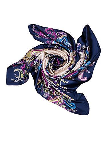 Bestgift sjaal, groot, zijde, vierkant, koeling, dames