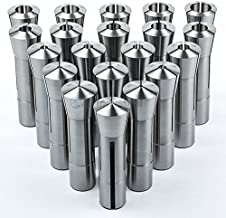 20 Pc Metric R8 Collet Set 1mm to 20mm High Precision for Bridgeport 20 Piece