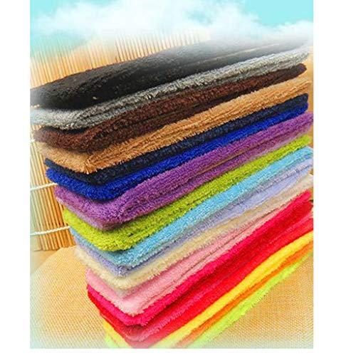 Maquillaje cara Wash ducha diadema,cara Ducha Diadema,Material de toalla absorbente de sudor elástico de color caramelo deportes fitness yoga diadema para el cabello (6 piezas,colores aleatorios)