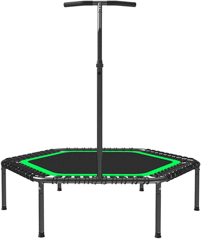 Indoortrampoline Trampolin Erwachsene Fitness Gewichtsverlust Ausrüstung Gym Home Trampolin Indoor-Trampolin Ladegewicht 150kg (Farbe   schwarz, Größe   53Inches)