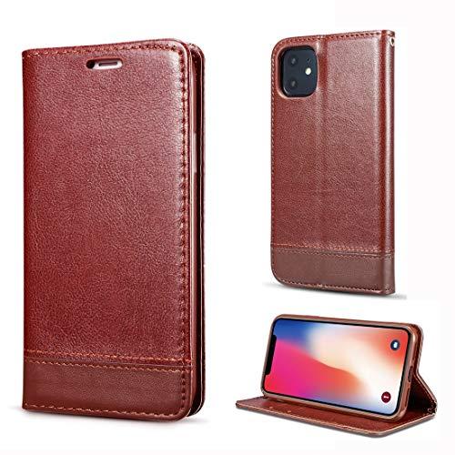 XIXI Phone for iPhone 11 Pro dubbelzijdige absorptie splitsen horizontale Flip Leather Case met houder & kaartsleuven & Lanyard (zwart) Eenvoudig gevormd en comfortabel, bruin