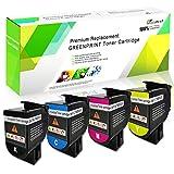 Cartucce Toner Compatibili a 4 Colori CS317 CX317 CS417 CX417 CS517 CX517 Capacità Standard 3000 Pagine BK, 2300 Pagine CMY per Stampante Lexmark CS317dn CX317dn CS417dn CX417de CS517de CX517de