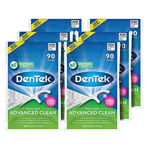 DenTek Triple Clean Floss Picks 90-count by DenTek
