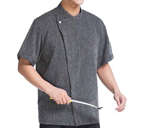 Camisa de Cocinero Cocina Uniforme Manga Corta (L)