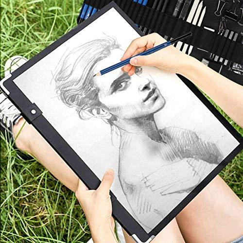 Lápices de Dibujo Artístico, UlifeME 50 Pcs Kit de Dibujo Profesional para Boceto, Lapiz Dibujos con Lapices de Carboncillo y Grafito & Lápices Arte, regalo para Artistas, Estudiantes, Niños y Adultos