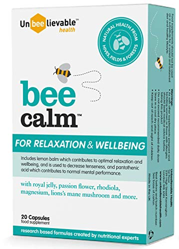 Unbeelievable Health Bee Calm Relaxation and Wellbeing Support - 60 Capsules (3 x 20)