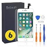Bokman LCD Pantalla para iPhone 6, Táctil LCD Reemplazo con Herramientas de Reparación(Blanco)