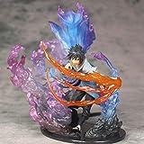 QIYHBVR Naruto Anime Susano Omen Flame Zero Sasuke Uchiha Itachi Modelo de combinación Figura en Caja Estatuilla Versión Estatua Muñeca Escultura Juguete Decoración Modelo Altura 21.5c