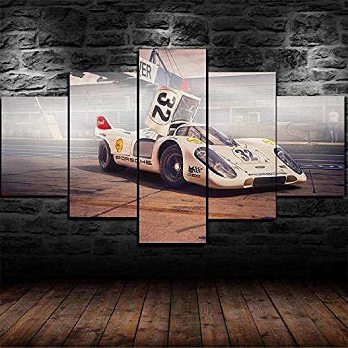 Impresión En Lienzo 5 Piezas Cuadro sobre Lienzo 5 Piezas Cuadro En Lienzo 5 Piezas Lona Murales Cuadro En Lienzo 5 Piezas 1970 Porsche 917K Superdeportivo Decoración para El Hogar Póster