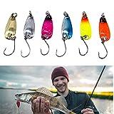 6 Pezzi Esche per Pesca alla Trota Cucchiaino, Trota in Metallo Artificiali Pesca Spinning...