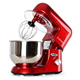 KLARSTEIN TK1 Bella Rossa - Robot da Cucina, Mixer, impastatrice, 1200 W, 1,6 PS, 5,2 L, Sistema...