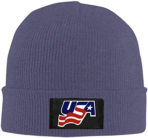 SVDziAeo USA Hockey Men & Women Knitted Hat Skull Caps Winter Warm Stretchy Knitting Knitted Hat one9368