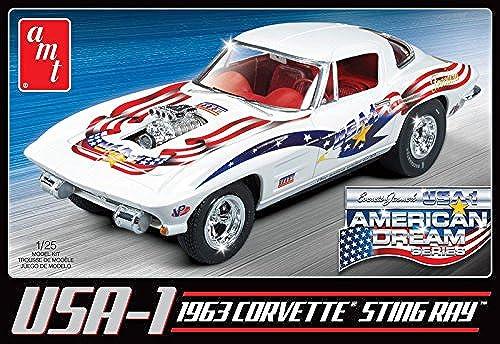 autentico en linea AMT amt9091  25Escala 1963Chevy Corvette Corvette Corvette Estados Unidos  1  plástico Modelo  envío rápido en todo el mundo