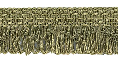 Decorative Moss Green Scalloped Loop Fringe / Braid, 35mm, 11 Meter Value Pack, Style# 9115 Color: L80 (I3) (36 Ft / 12 Yards)