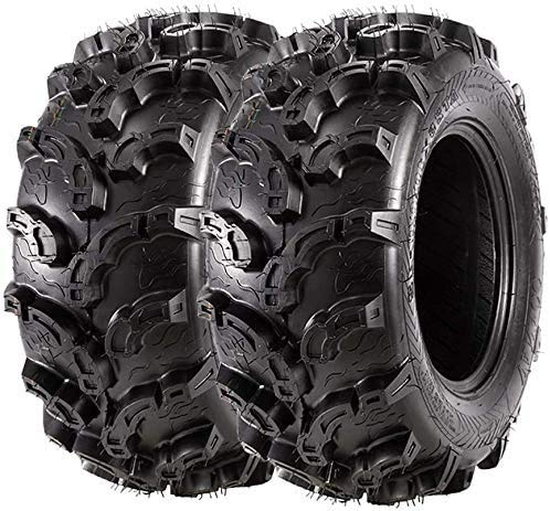 4PK 25x8x12 25x8-12 25-8-12 ATV UTV Utility Sport Tires Set 6PLY