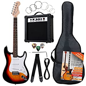 Set de Guitarra Electrica LA 3/4 + Amplificador Pink: Amazon.es ...