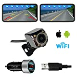 Casoda WiFi Wireless Backup Camera for iPhone and Android, Ultra Strong Signal Smooth Video Image Never Freezing Clear Picture Suitable for Cars Trucks Trailers SUVs, Easy to Install