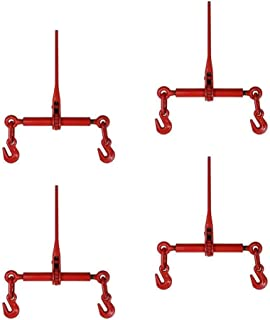 1/2 Inch x 5/8 Inch Ratchet Chain Load Binder 4 Pack