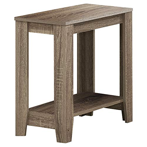 Monarch Specialties Dark Taupe Reclaimed-Look Accent Side Table
