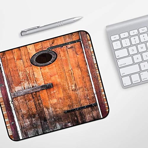 Gaming Mousepad Mauspad,Rustikal, Foto von antiken verknoteten Kiefernholz mit Kontrollfenster Bauholz Natur Design, schwarz weiß,Komfort Mousepad - verbessert Präzision und Geschwindigkeit