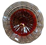 17' Hand Blown Art Glass Table Platter Plate Red Grey Lavender w/Wall Hanging Mount